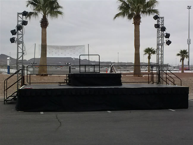 Outdoor stage at the Las Vegas Motor Speedway.