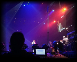 Large Event Concert Sound Systems - Monitor Engineers View Pictured