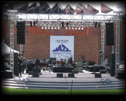 Medium Scale Indoor and Outdoor Sound Systems - Jazz Festival for 5000 Pictured