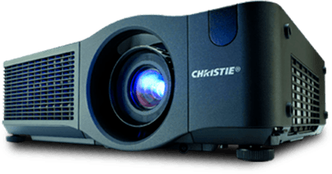 front view of a Cristie video projector