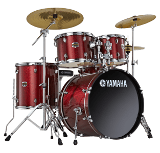Yamaha Drum Kit in red