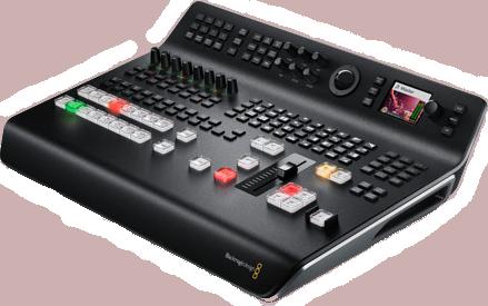 Blackmagic ATEM Television studio pro 4k side view