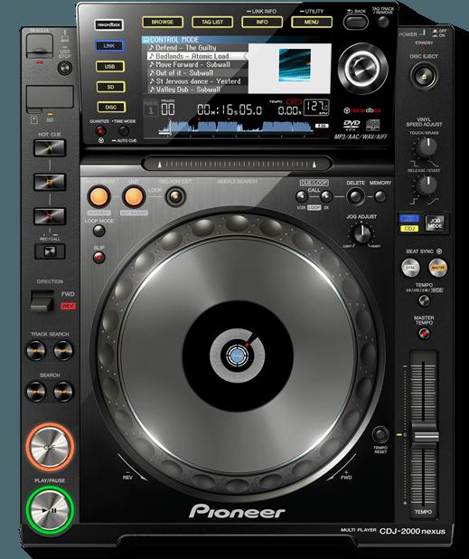 Pioneer CDJ2000 Nexus CD Player for DJs