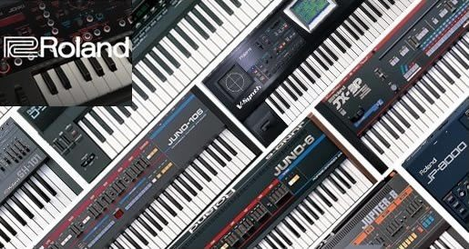 photo of several Roland keyboards