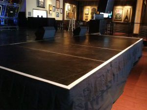 16' x 24' stage, installed in Vegas hotel for a band