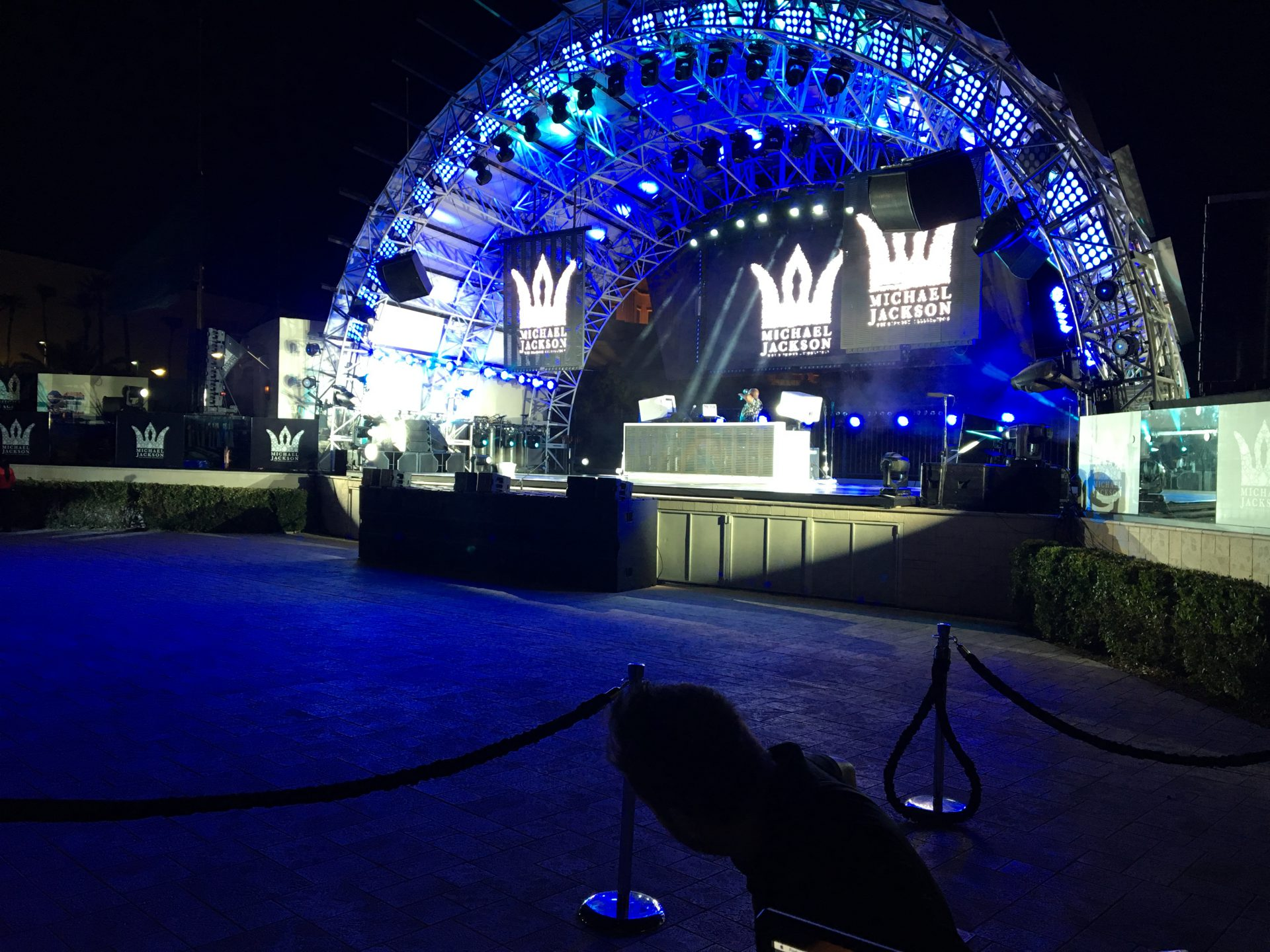 Stage view Michael Jackson Diamond Celebration