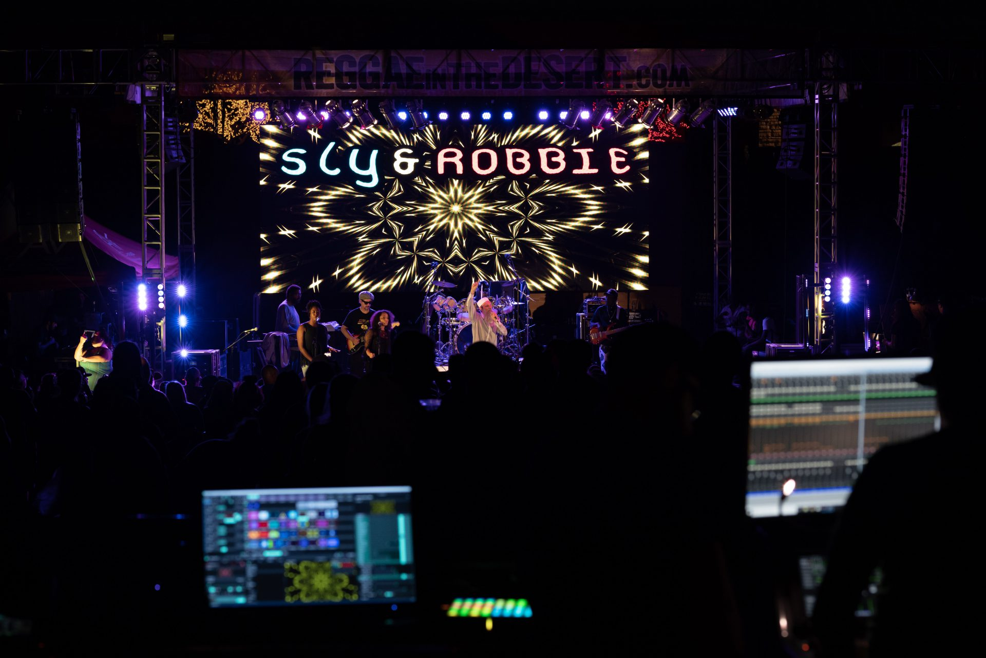 Reggae In The Desert 2019, LED Video Wall Sound System Stage Lighting System Backline for musicians Audio, Video Technicians