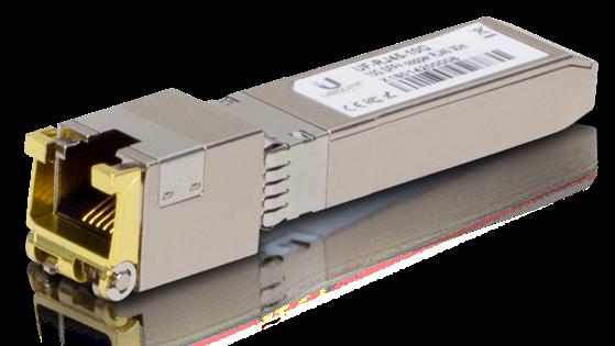 A Ubiquiti SFP+ 10G module