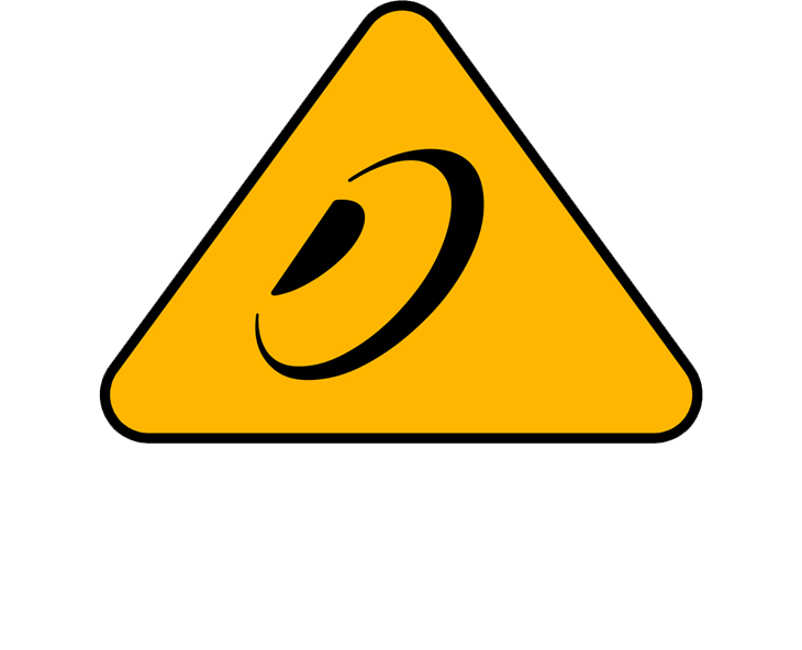 Behringer logo white/yellow