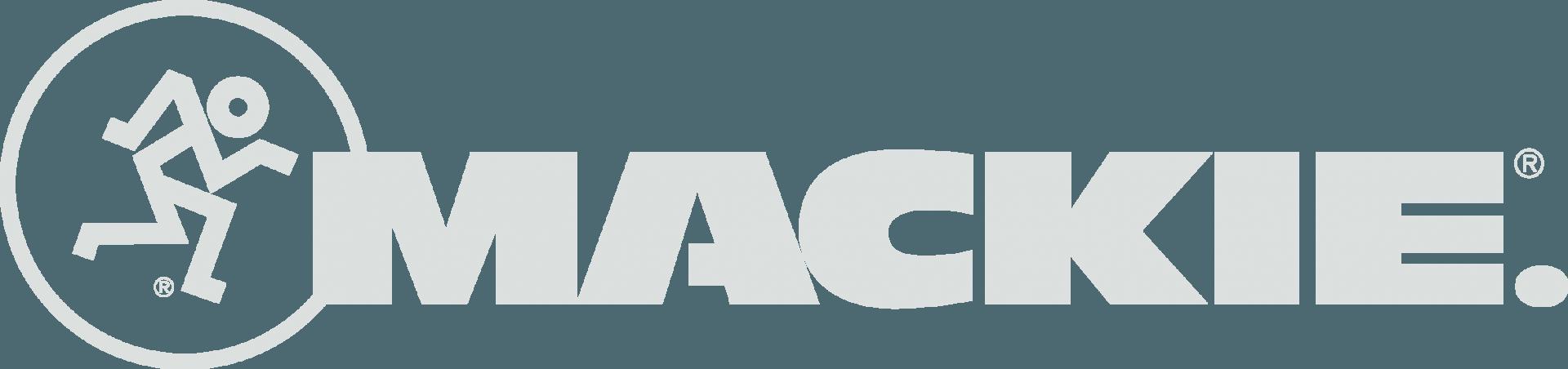 Mackie logo grey-white