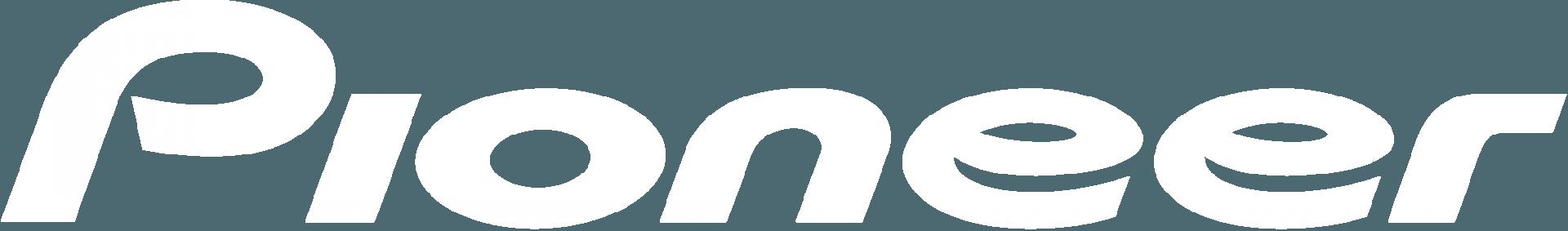 Pioneer logo white