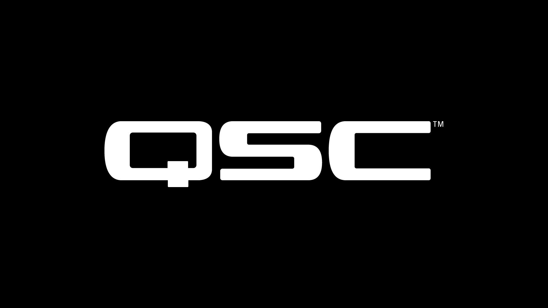 QSC Logo white on black