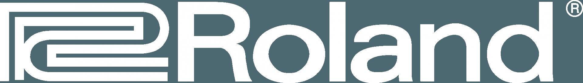 Roland logo white
