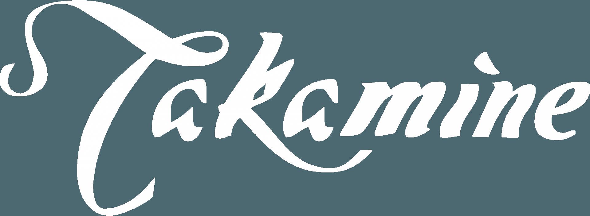 Takamine logo white