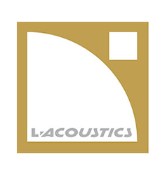 L-Acoustics logo white gold